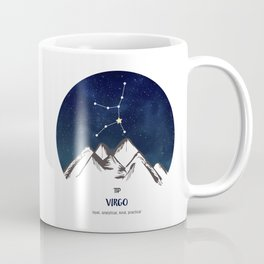 Astrology Virgo Zodiac Horoscope Constellation Star Sign Watercolor Poster Wall Art Coffee Mug