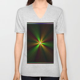 Abstract perfection - Spectrum Unisex V-Neck