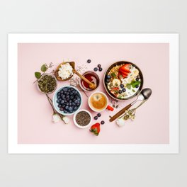 Heart made with Healthy breakfast set Art Print