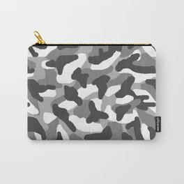 Grey Gray Camo Camouflage Carry-All Pouch