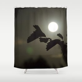 By the light of the full moon Shower Curtain