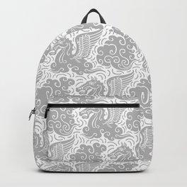 Pegasus Pattern Grey Backpack