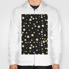 Modern stylish black pastel amulet yellow hipster polka dots Hoody