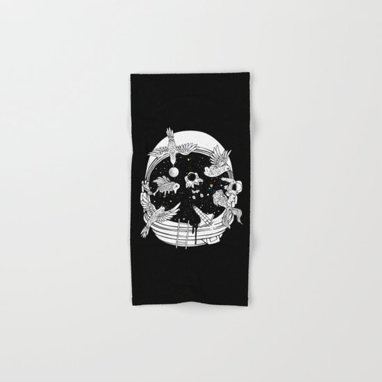 Depth of Discovery (A Case of Constant Curiosity-B/W) Hand & Bath Towel