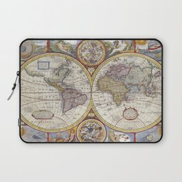 Vintage world map Laptop Sleeve