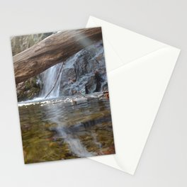 Cascade Falls with a ray of light Stationery Cards