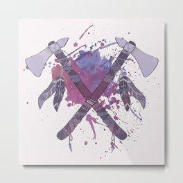 Splat Colors - Axes Metal Print