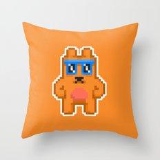 8Bit RaveBear Throw Pillow