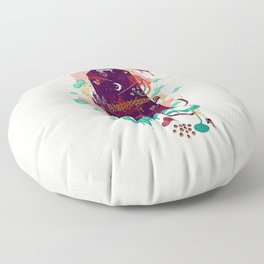 The Ominous and Ghastly Mont Noir Floor Pillow