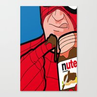 secret life Canvas Prints featuring secret life by eatpersonality