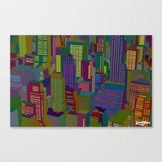 Cityscape night Canvas Print