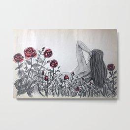 Among the roses Metal Print