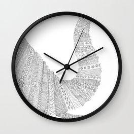 Elephant (mirrored) Wall Clock