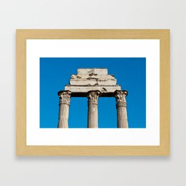 Temple of Castor and Pollux in Rome Framed Art Print