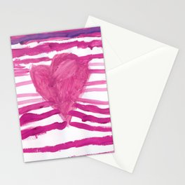Heart waves Stationery Cards