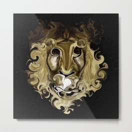 IS IT A LION Metal Print