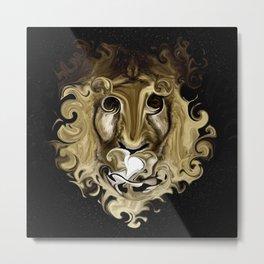 IS IT A LION Metal Print