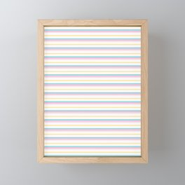 Small summer stripes graphic seamless pattern. Framed Mini Art Print