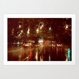 Just Another Rainy Freeway Art Print