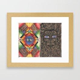Tantric 4 (Travel Journal Entry) Framed Art Print