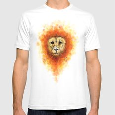 Gesture Lion with Mane White MEDIUM Mens Fitted Tee