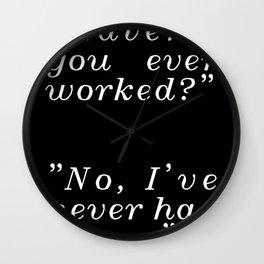 Black Dado Wall Clock