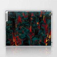 Night city glow cartoon Laptop & iPad Skin