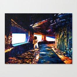 Astronaut on an Abandoned Ship Canvas Print