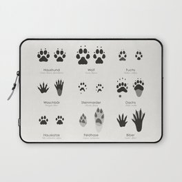Spuren heimischer Tiere (Hidden Tracks) Laptop Sleeve