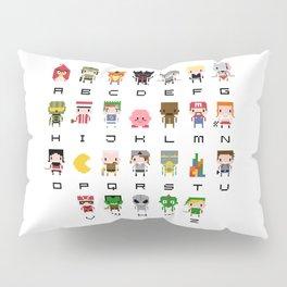 Video Games Pixel Alphabet Pillow Sham