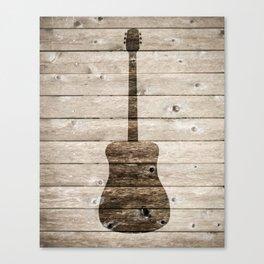 Classic Guitar Canvas Print