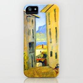 Louis Eilshemius Street in Lugano iPhone Case
