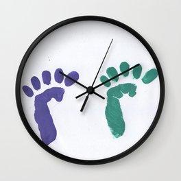 feet `s print Wall Clock