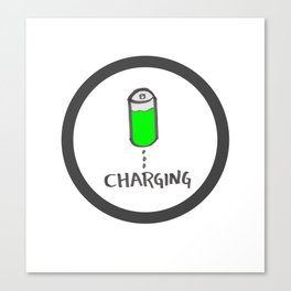 Battery charging Canvas Print