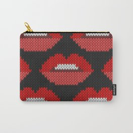 Lips pattern - black Carry-All Pouch