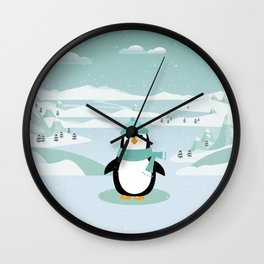 AFE Winter Penguin Wall Clock