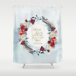The heart is an arrow... Six of Crows Quote Shower Curtain