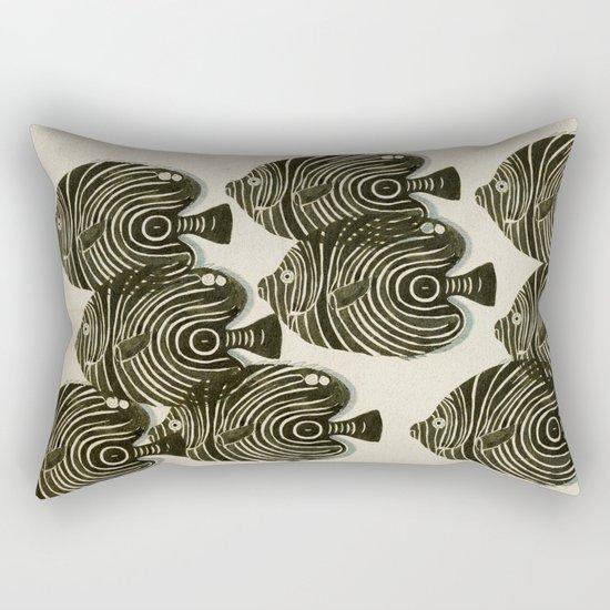 Shoal of Black Fish Rectangular Pillow