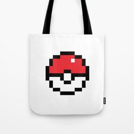 Pixel Pokeball Tote Bag