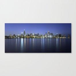 Chicago Skyline Dusk Panorama Canvas Print