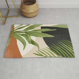 Abstract Art Tropical Leaf 11 Rug