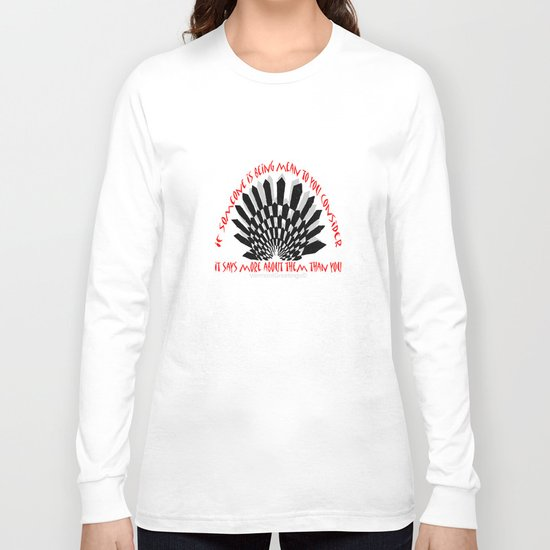 Prevent Bullying- A VermontGreetings Illustration Long Sleeve T-shirt