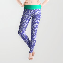 Olive Branches – Periwinkle Leggings