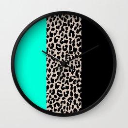 Leopard National Flag VII Wall Clock