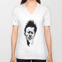 tom waits V-neck T-shirts featuring Tom Waits by Giorgia Ruggeri