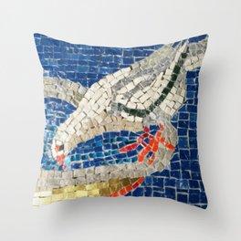 Drinking Dove Throw Pillow