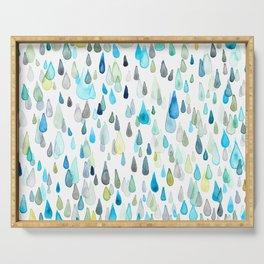 Raindrops Serving Tray