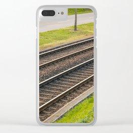 Tramway rail Clear iPhone Case
