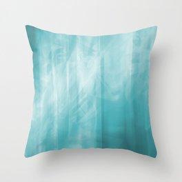 Ice Blue I Throw Pillow
