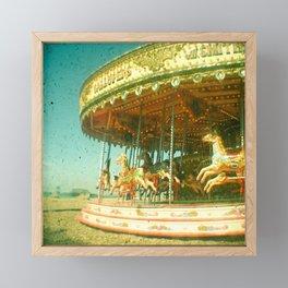 Carousel Framed Mini Art Print